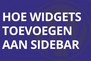 Hoe widgets toevoegen aan sidebar