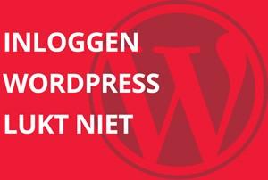 Inloggen WordPress lukt niet