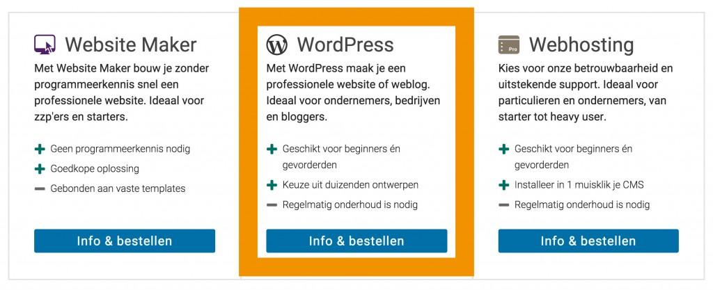 Hostnet wordpress hosting aanvragen