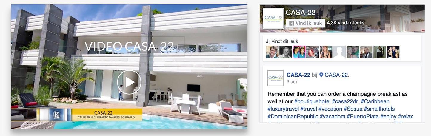 Facebook pagina plugin Casa-22